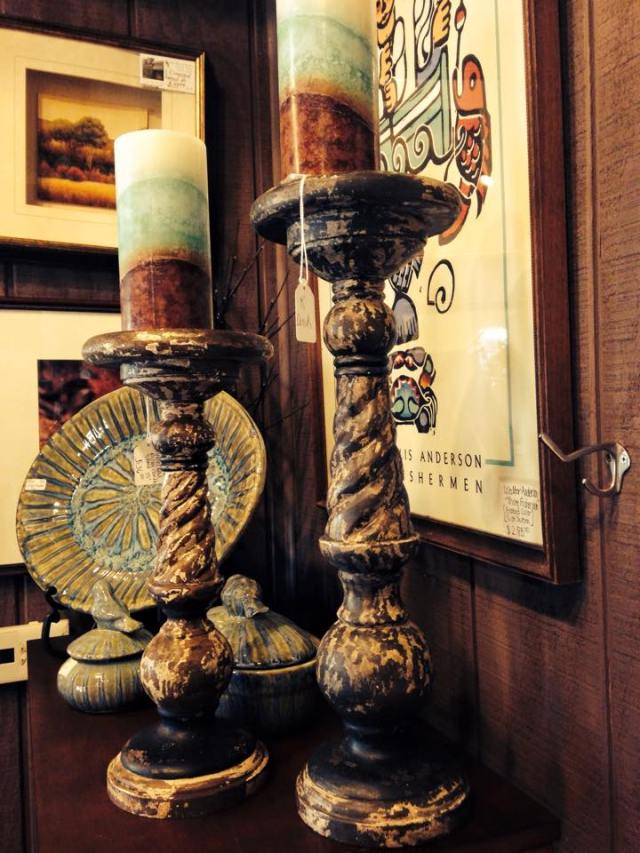 Distressed Candle Stands
